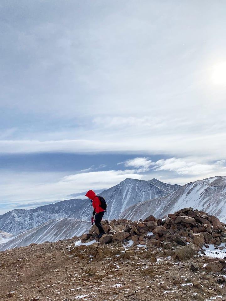 High altitude hiking