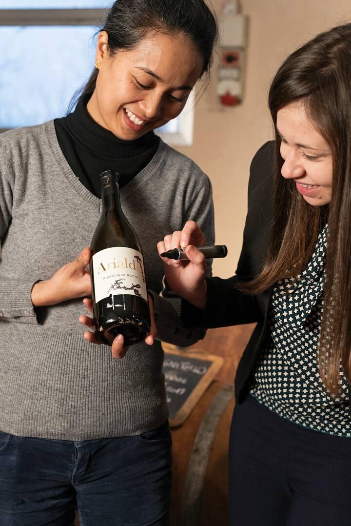 Bottle organic wine