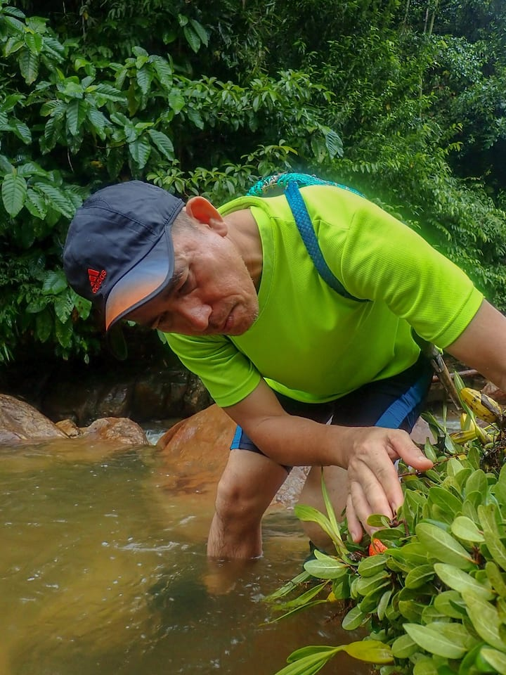 River trekking to explore nature