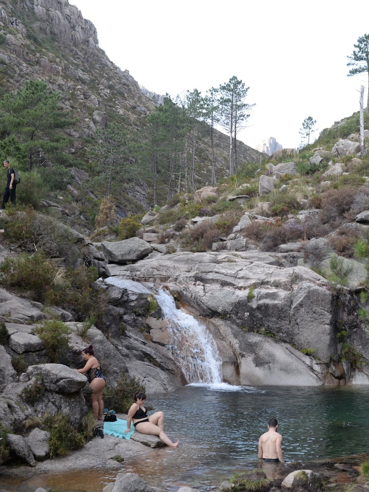 Swim in the blue lagoon in Vilar Veiga