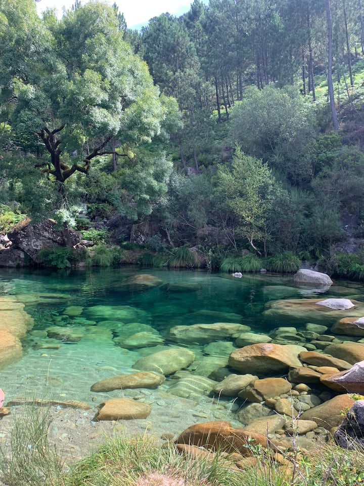 The green lagoon in Cabril