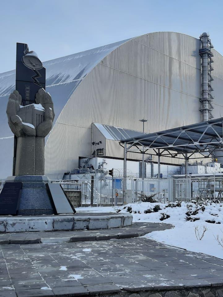 300 meters away from reactor 4