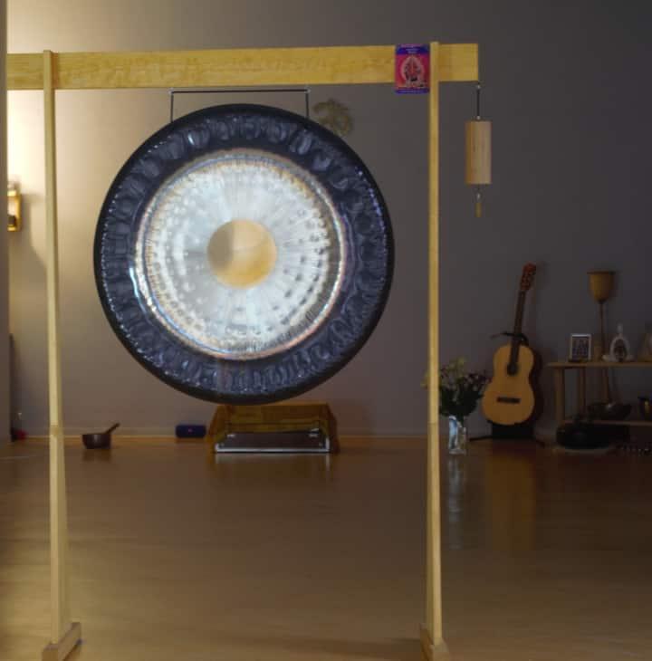 Raum ,wo ich den Gong dann spiele