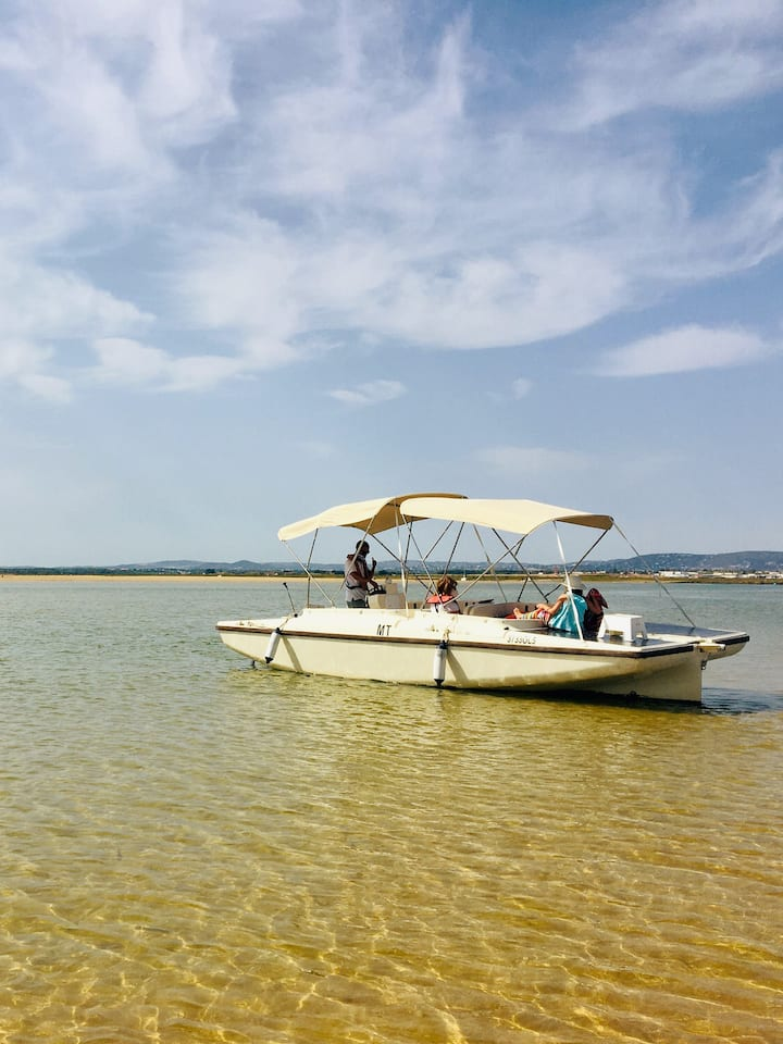 Visite a laguna protegida da Ria Formosa