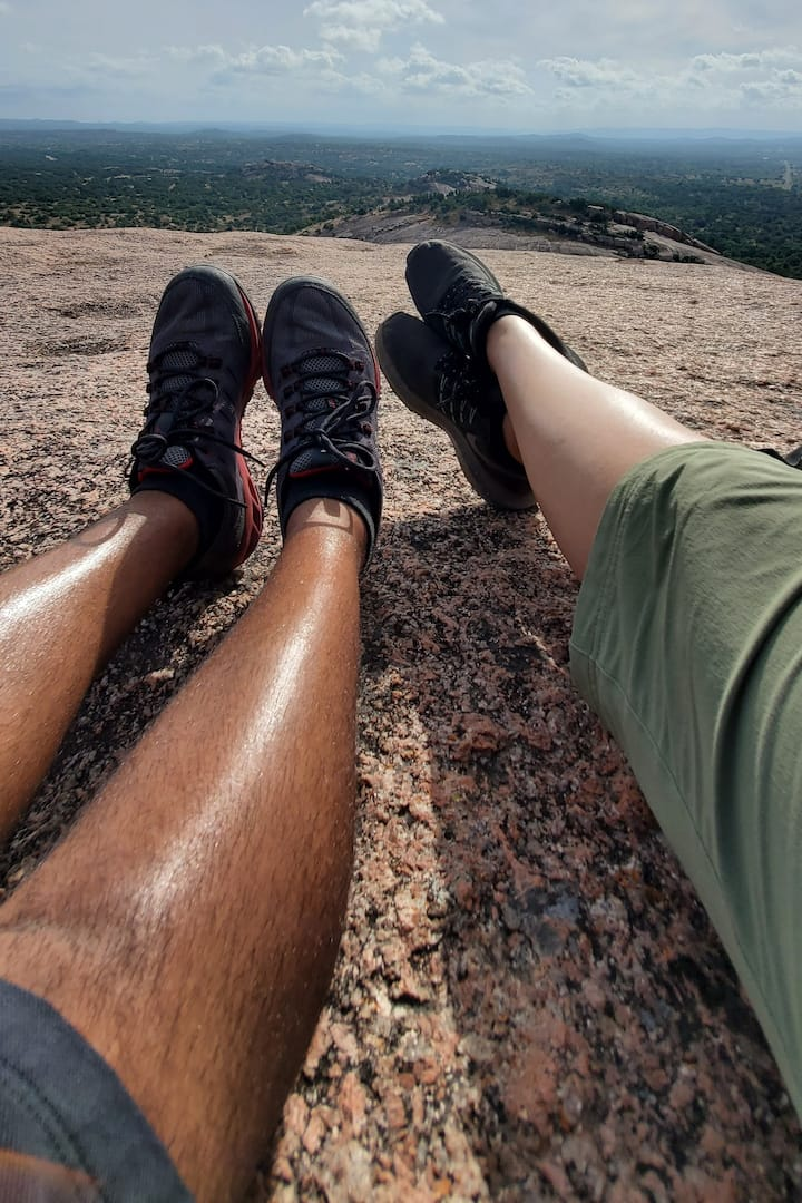 On top of Enchanted Rock!