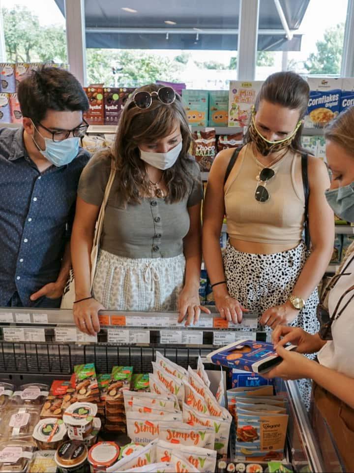 Visit a fully vegan supermarket