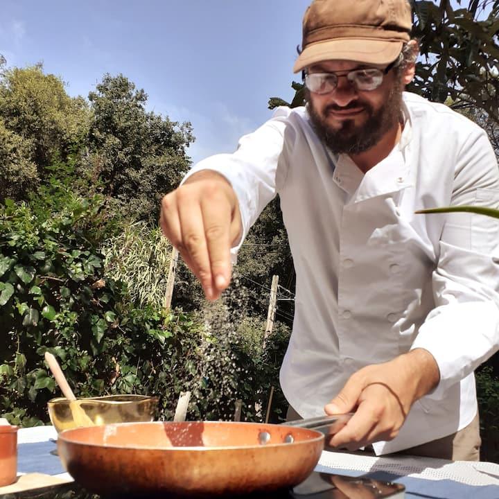 Clase de cocina de Gerardo