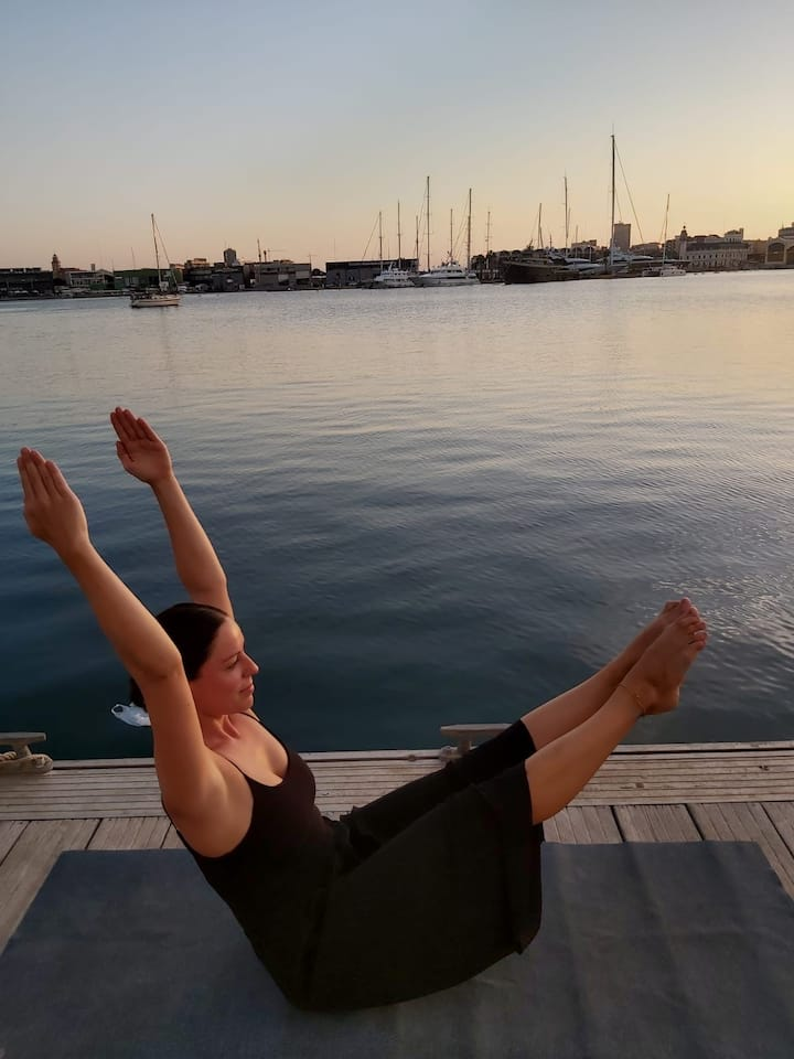 Yoga at the waterfront