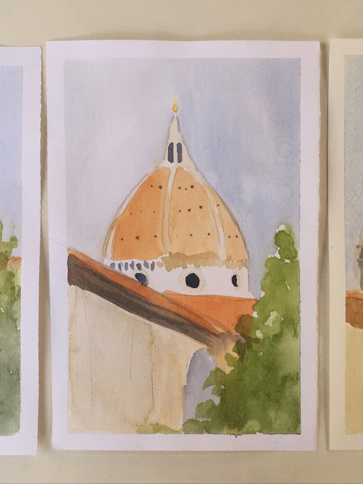 The Dome in watercolour