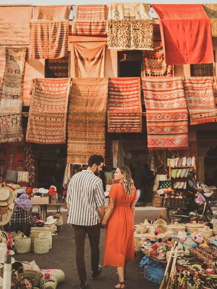 Marrakech Souk couple Photoshoot