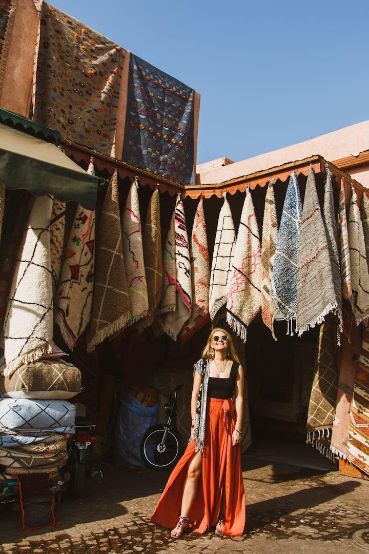 Souks photoshoot in Marrakech