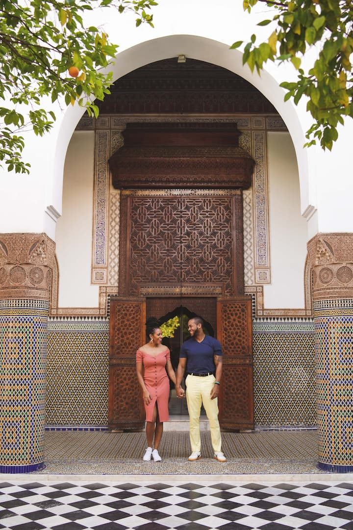 Couple photoshoot in Marrakech