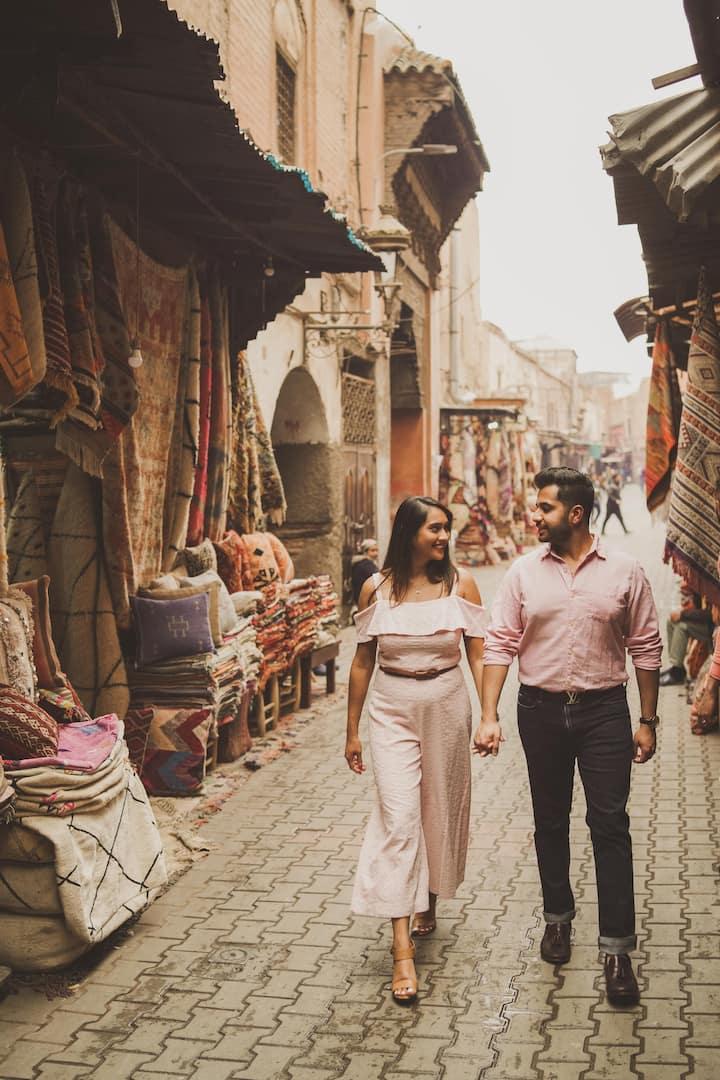 couple photoshoot in Marrakech