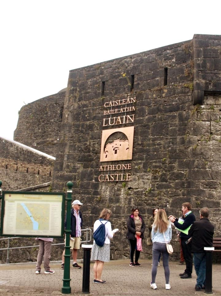 Our meeting point is Athlone castle.