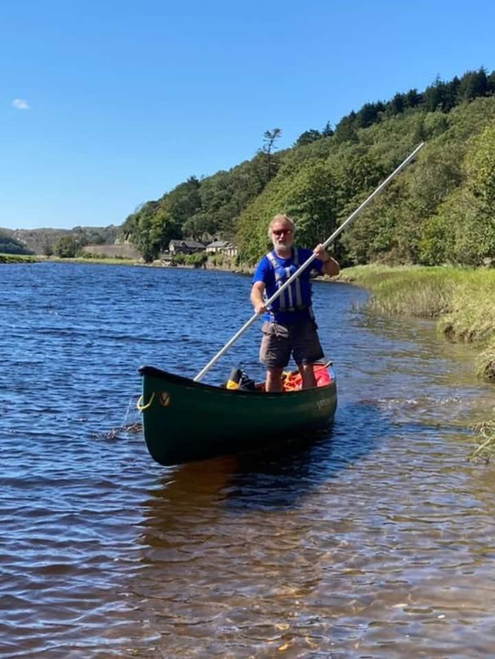 Tim canoe poling, Afon Dwyryd