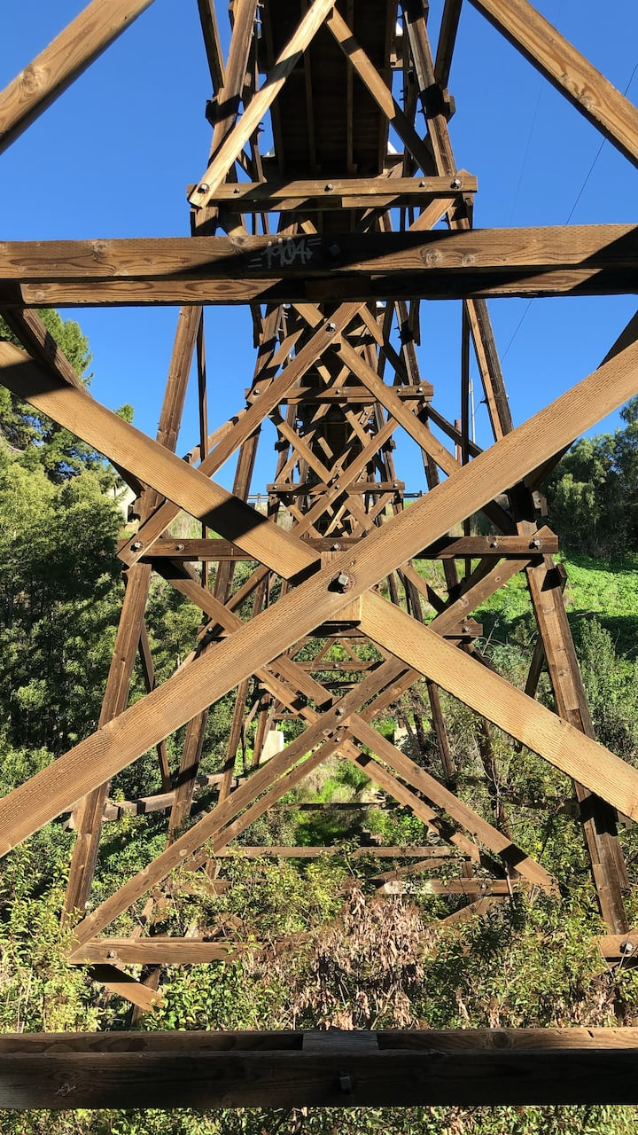 Last remaining wood trestle bridge in SD