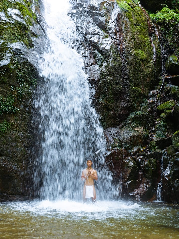 Witness waterfall meditation rituals