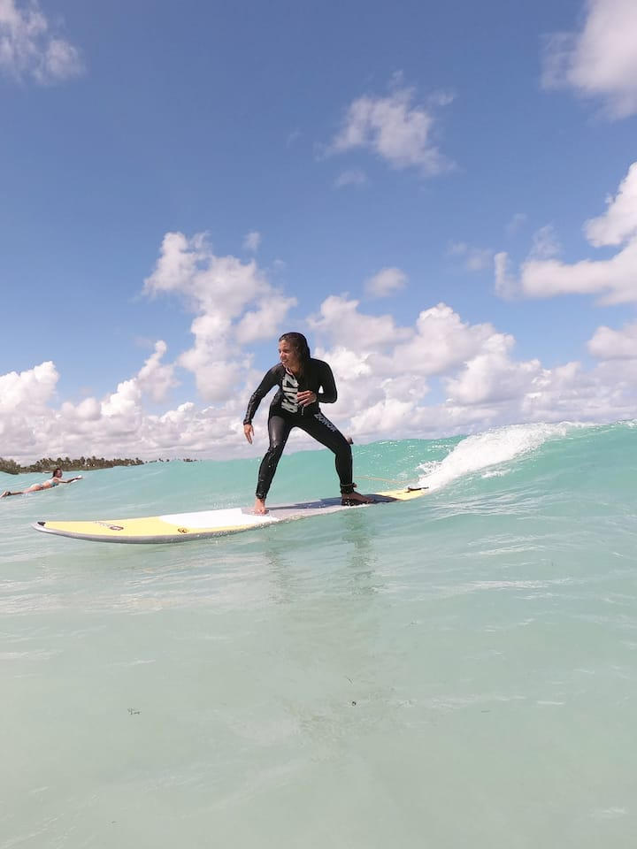 Adrenaline rush on your first waves