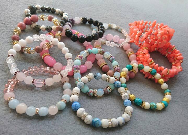Some finished bracelets