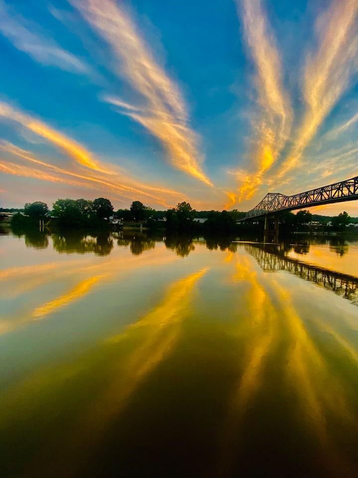 Sunset over the Kanawha River