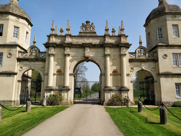 The gates of Burghley.