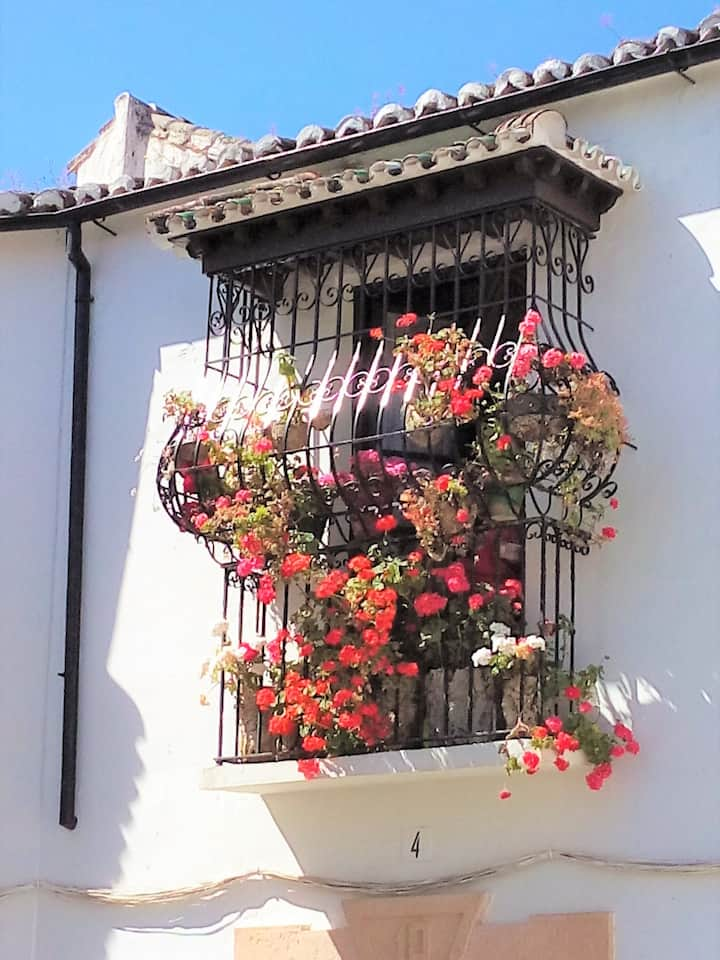 Typical balcony in Ronda