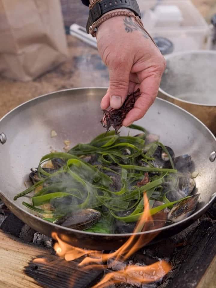 Cooking on the fire photo by Jen Jaar