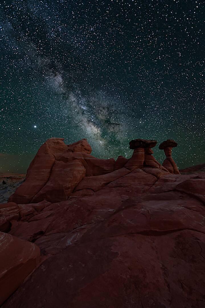 Milky Way over the hoodoos