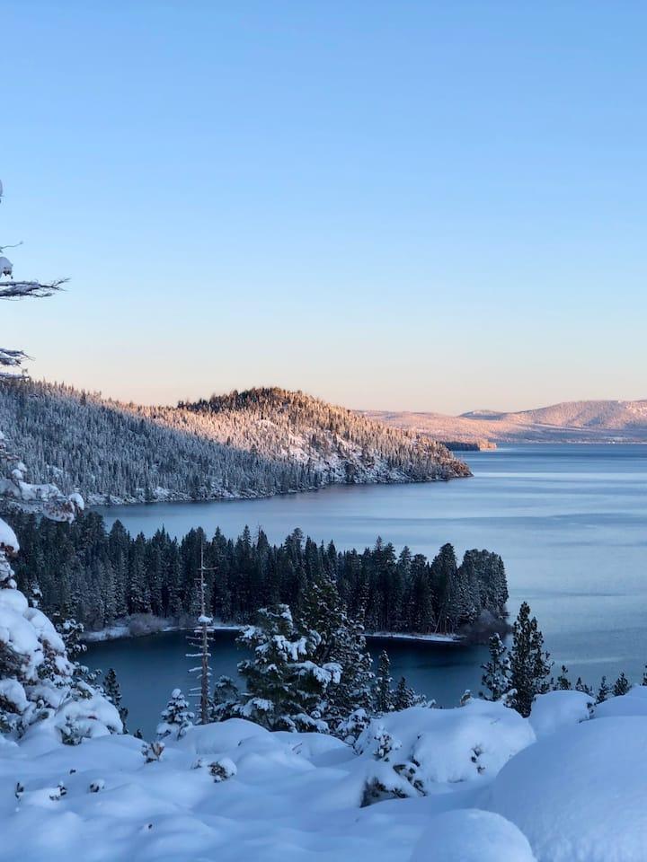 Snowy Emerald Bay