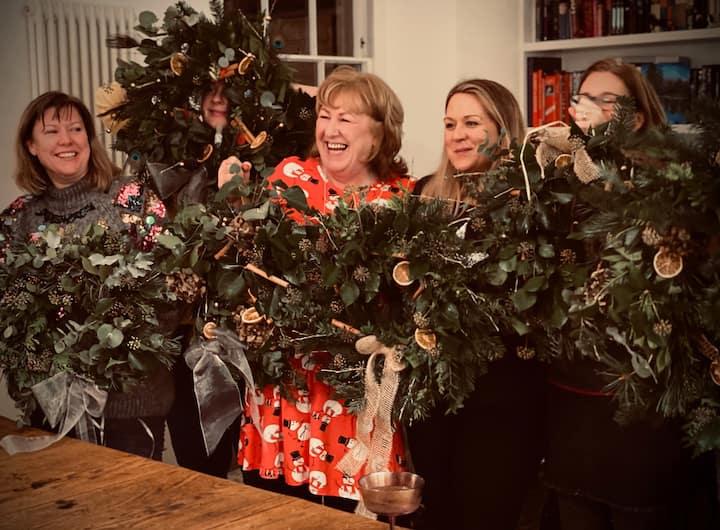 Festive funChristmas wreath workshops