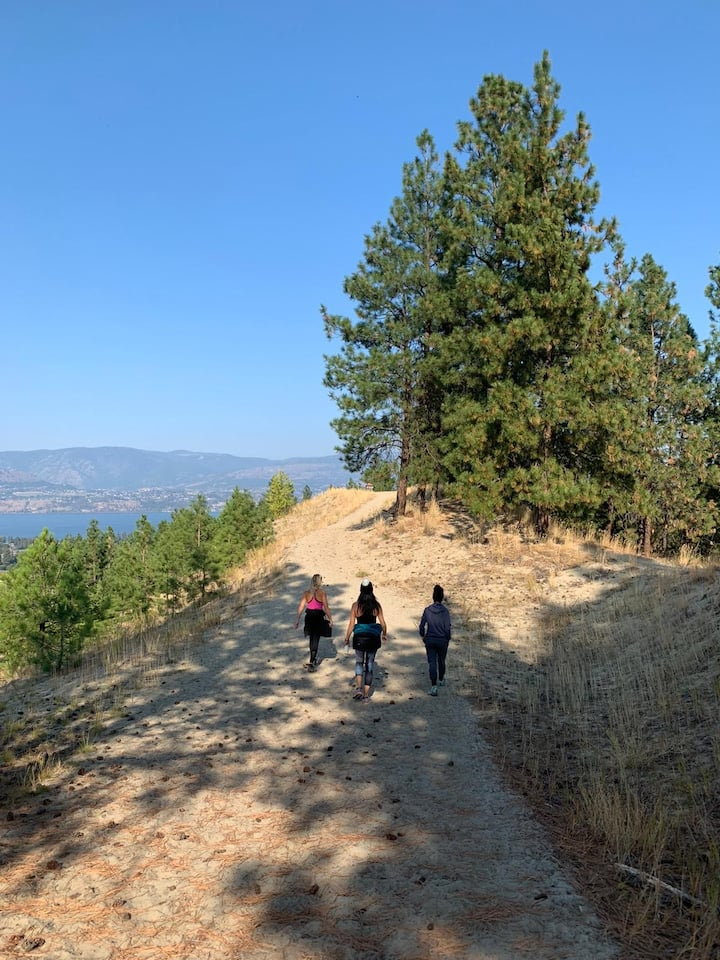 Hiking and beautiful Okanagan Lake view