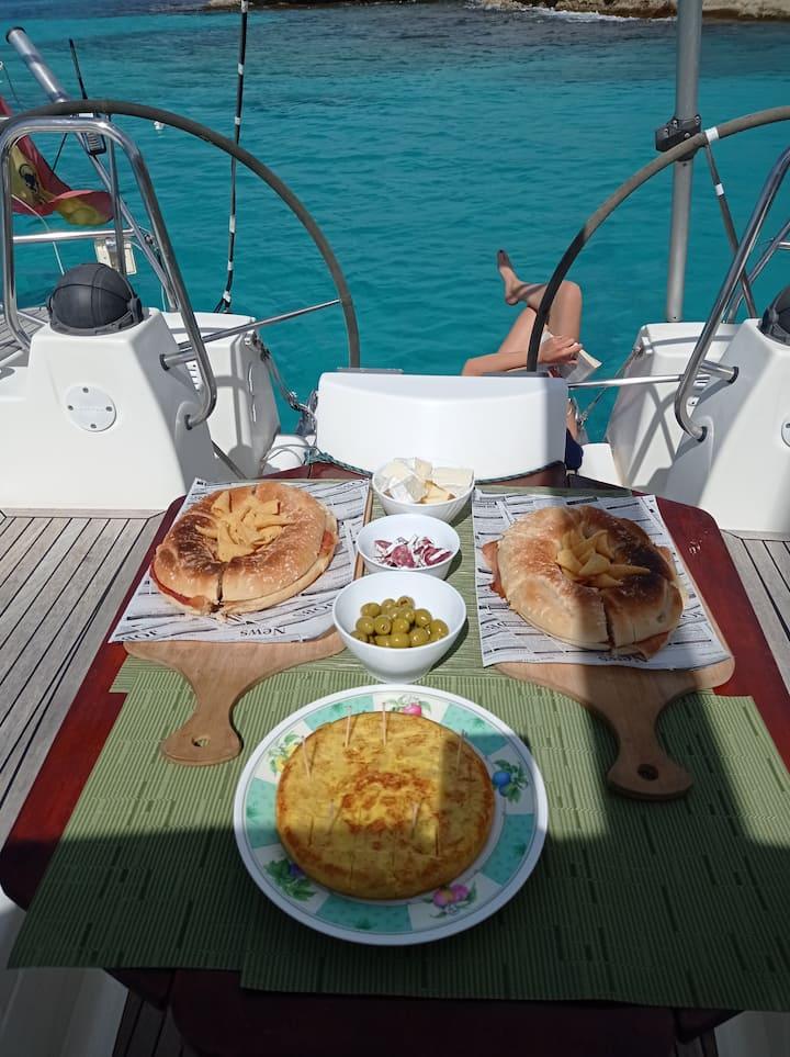 Enjoy Med Food at sea.