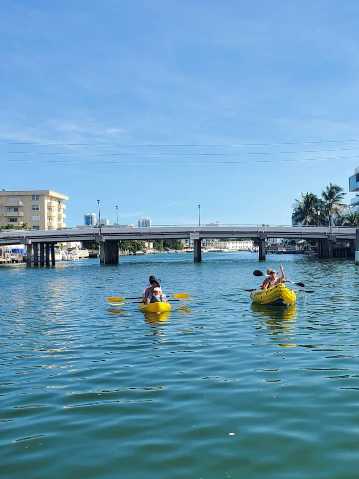 kayak 's are also available for Families