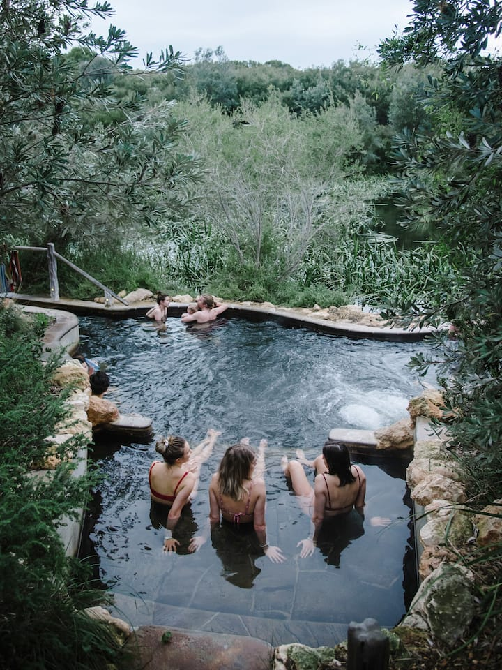 Chill at hot springs set amongst nature