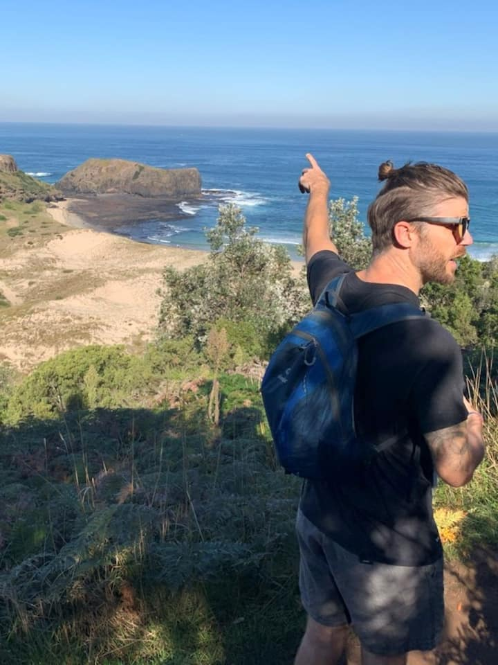 Guided bushwalk to secluded bay