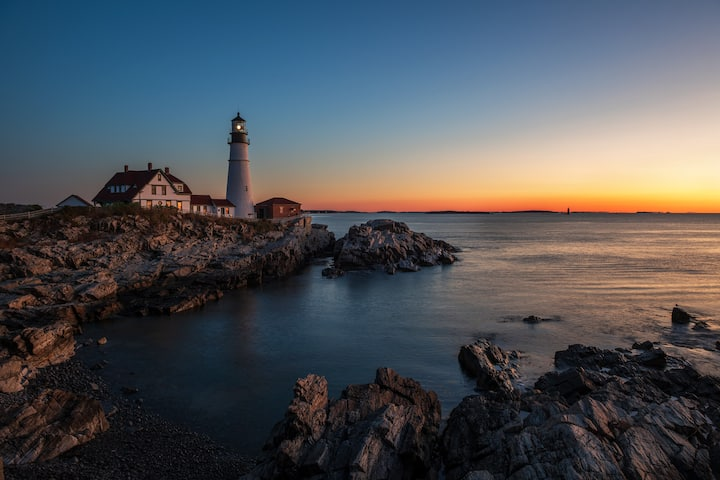Portland Headlight at Dawn.