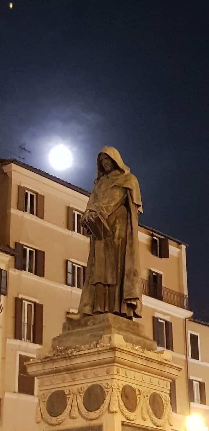 Giordano standing ominous.