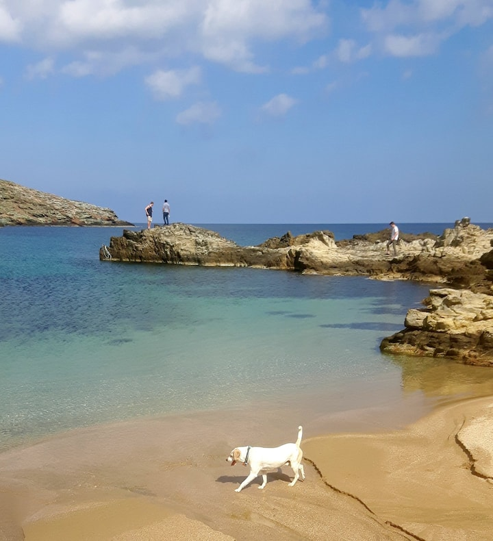 The optional route to Myrsini beach