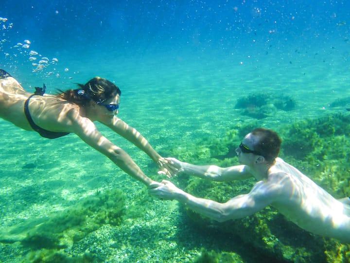 Underwater photo shooting