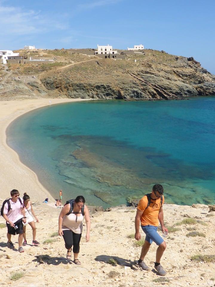Hikingat the beach of Fokos