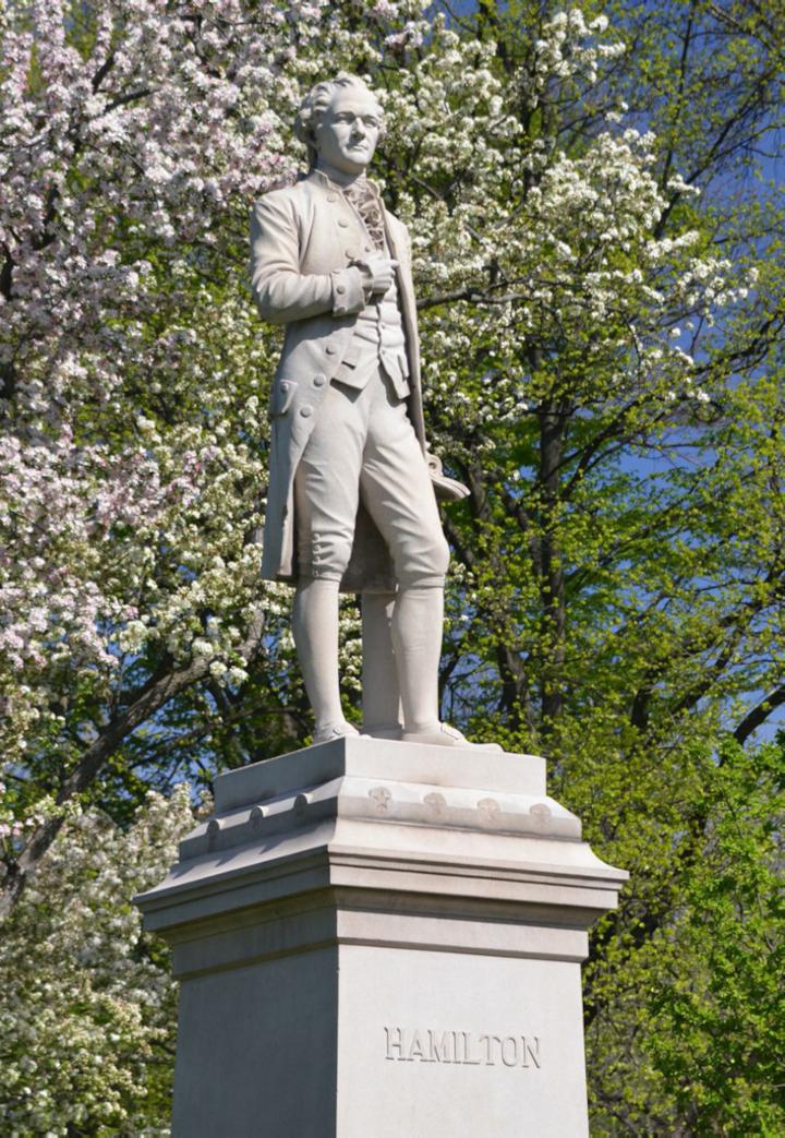 Hamilton Statue in Central Park