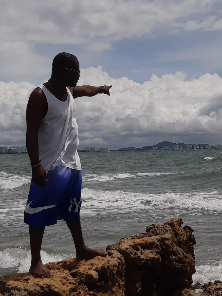 Vista de Cartagena desde Punta Icaco