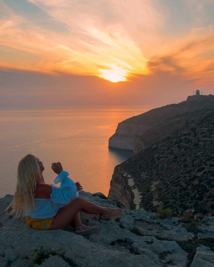 Dingli Cliffs at sunset