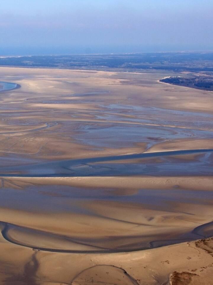 La baie de somme marée basse