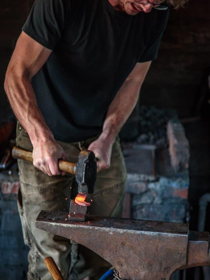 Blacksmith shop with live reenactments