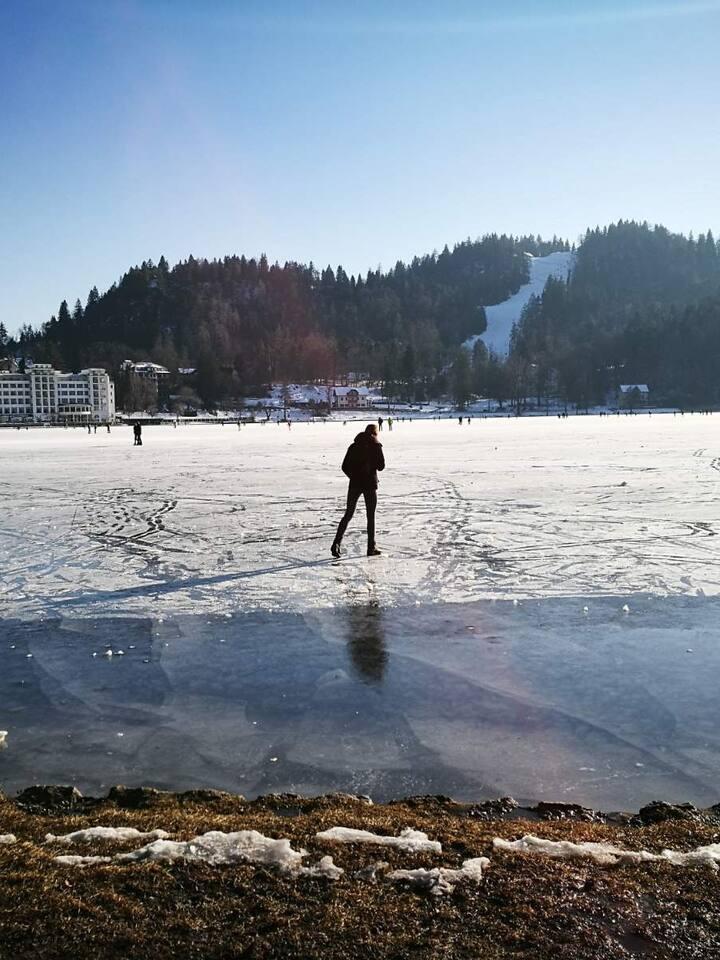 Bled Lake #wintertime