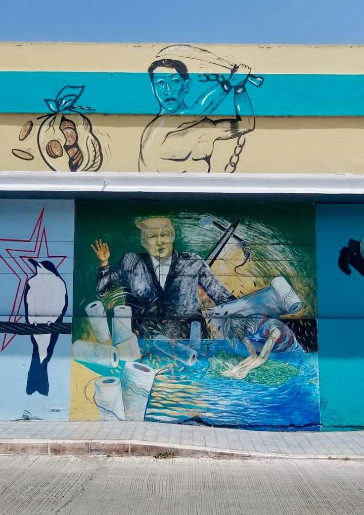 Mural Para Pensar, mural to think...