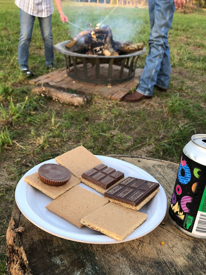 Just waiting on the roasted marshmallow.