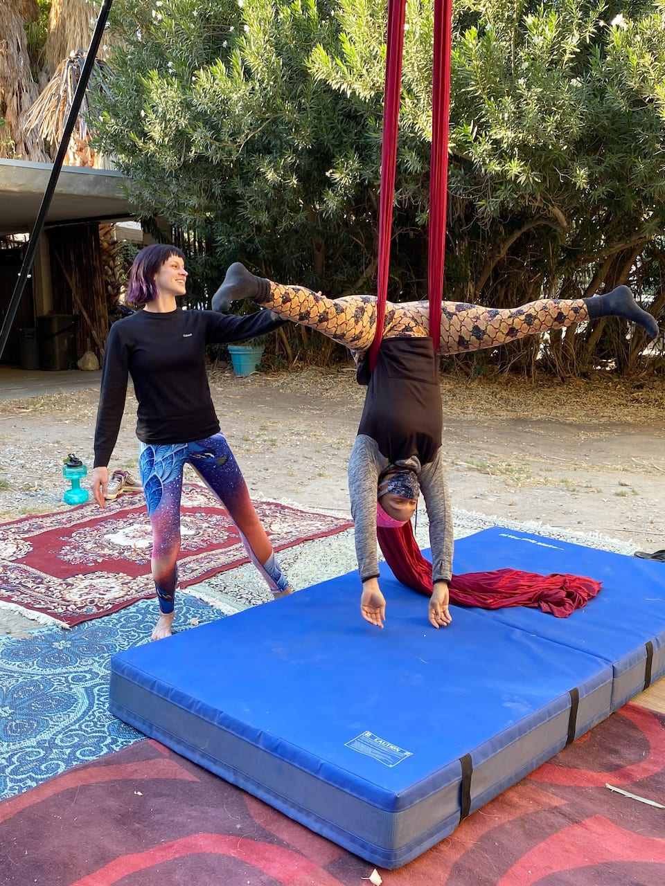 Aerial silk class and training