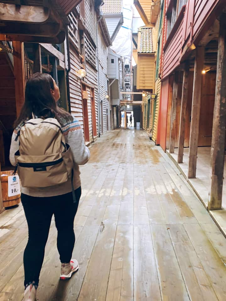 We walk down this historic alley